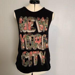 Ralph Lauren Denim & Supply NYC Black Tank, Sz XS